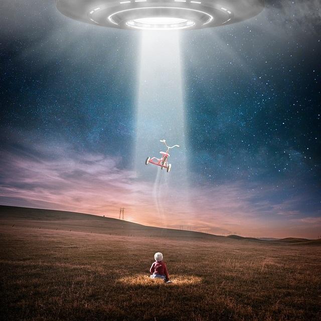 Child taken by alien spaceship
