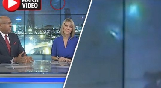 UFO spotted during live news broadcast