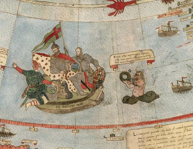 mermen Ancient Early World Map