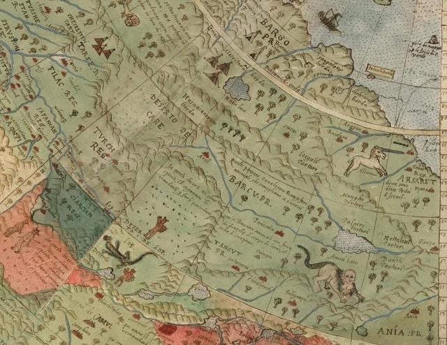 unicorn Early World Map restored