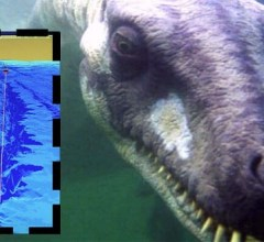 Loch Ness Monster deep underwater