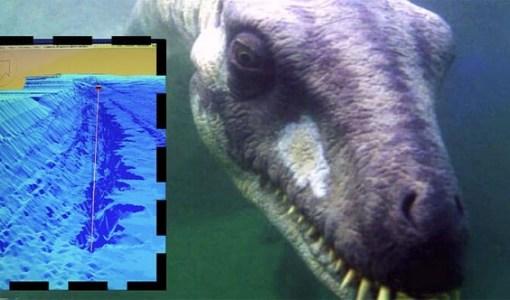 Loch Ness Monster deep underwater