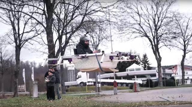 Philipp Mickenbecker flying bathtub