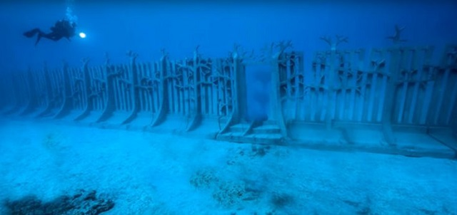 Google Earth underwater wall find