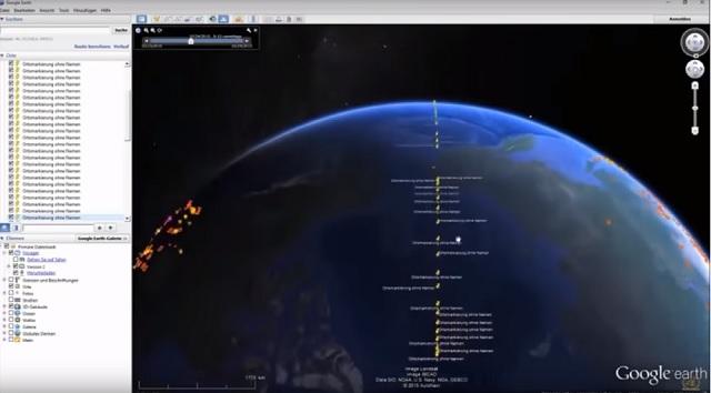 Google Earth underwater wall