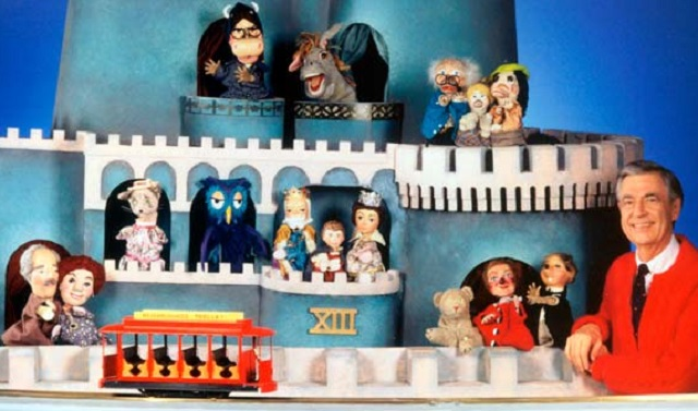 Mr Rogers PBS castle and puppets