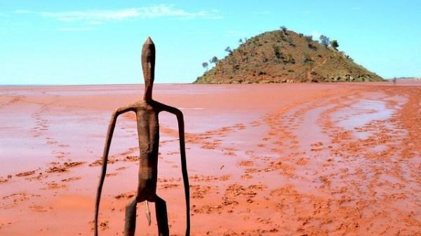 Strange statues stand in Australia