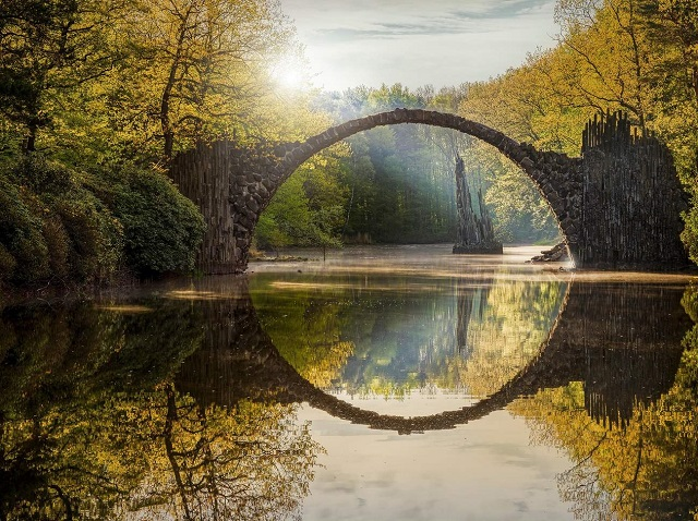 Germany Devil Bridge Rakotzbrücke