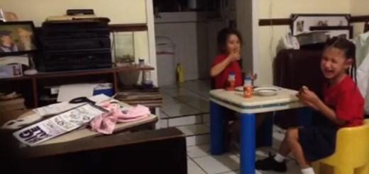 Terrifying spirit scares away two little girls