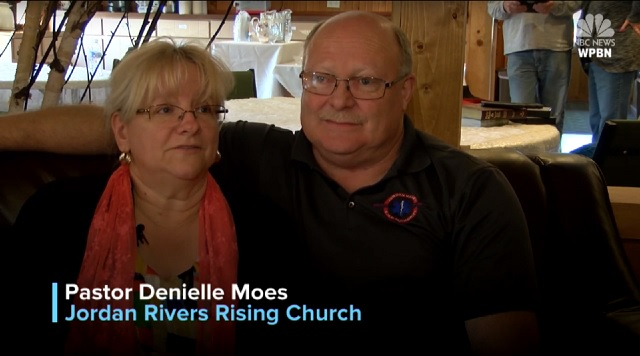 Image: Pastor Denielle Moes and husband/NBC News