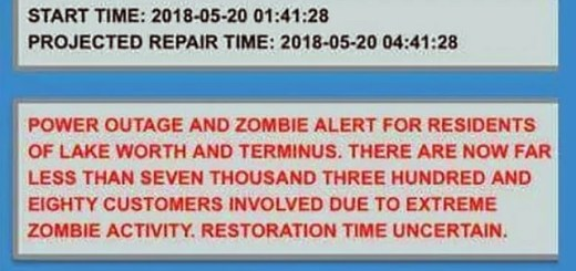Florida City Issued Zombie Warning After Power Outage