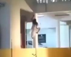 Creepy climber Sanjeevani Hospital