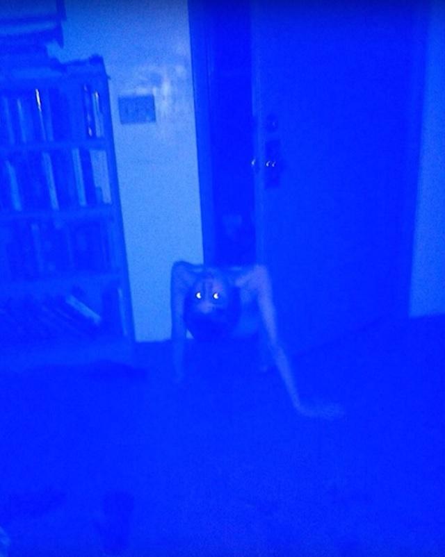 Possessed boy crawls from closet