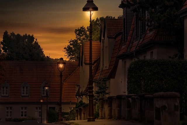 Strange Orange Light over Gelsenkirchen