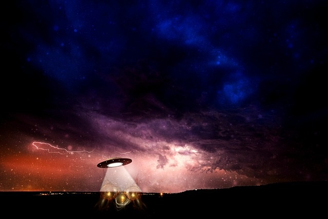 UFO sighting at night