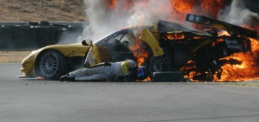 Racecar Driver Pulled From Flames By Guardian Spirit