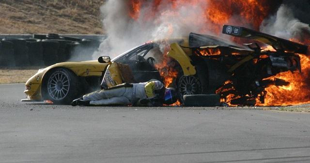 Dale Earnhardt Jr. crash ghost saves him