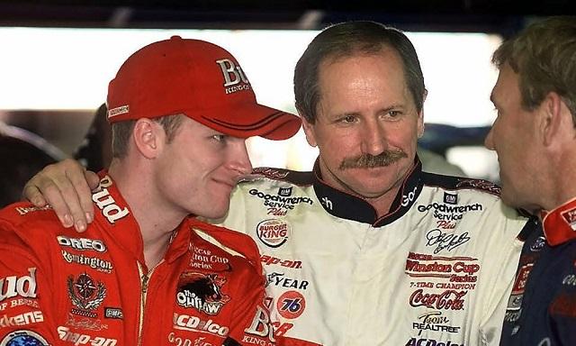 Dale Earnhardt Jr with father Dale Earnhardt