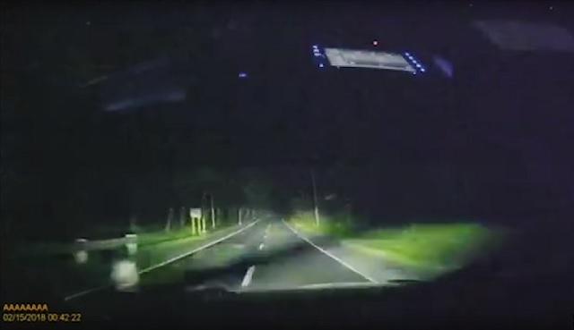 Roadside Ghost Boy Captured By Dashcam