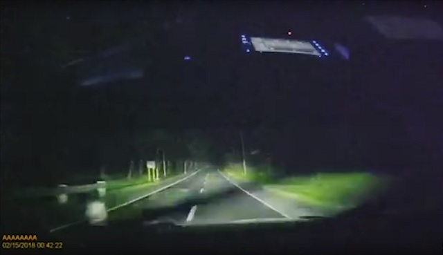 Roadside Ghost Boy Captured By Dashcam