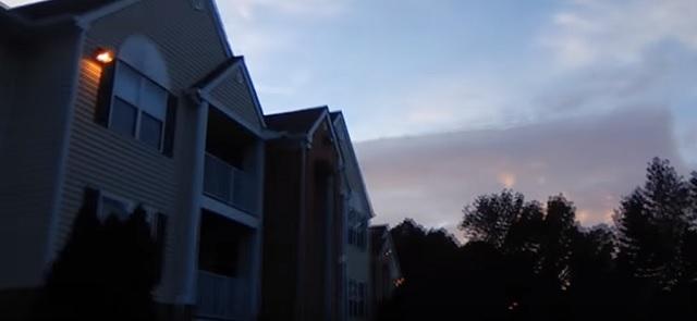 Square cloud in sky Richmond Virginia