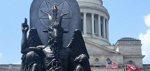 Satanic Baphomet Statue Smashed To Pieces