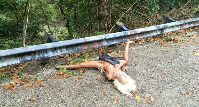 Discarded sex doll Colerain Ohio