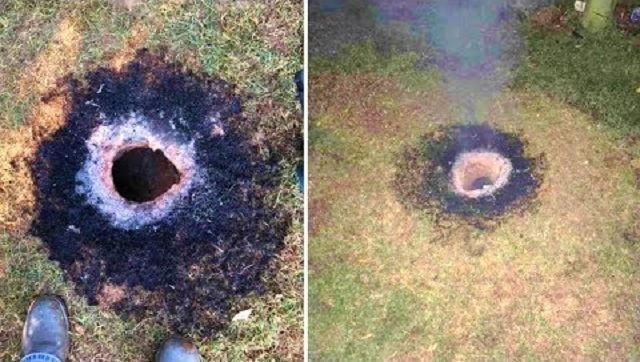 Flaming ground hole Arkansas