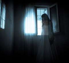 Ghost girl room at night