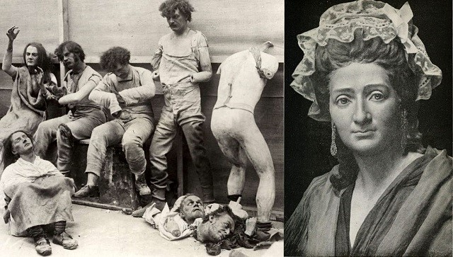 Madame Tussaud and her burnt mannequins 1925