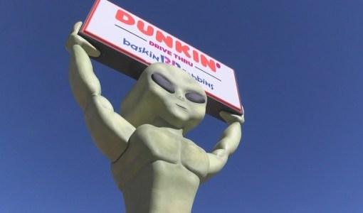 22 foot tall alien statue Dunkin' Donuts Baskin-Robbins