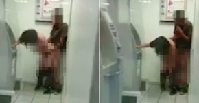 Couple in Mexico having sex at ATM