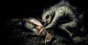 Chupacabra feeding