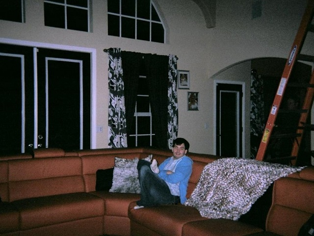 Cousins Photograph Creepy Full Bodied Apparition By Ladder