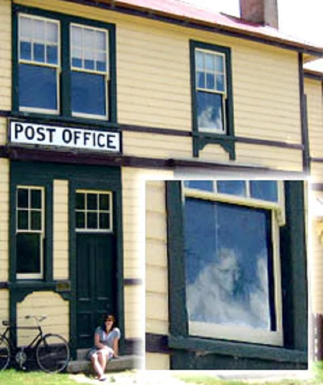 Ghost Gets Photographed By Old Post Office Window