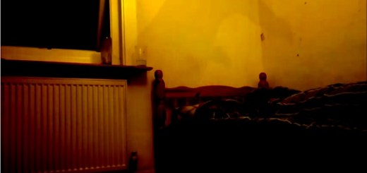 Strange Smoky Figure Appears Over-top Man's Bed