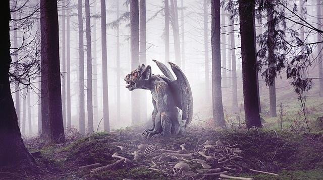 Gargoyle in the woods