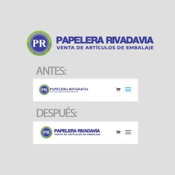 Logo Papelera Rivadavia