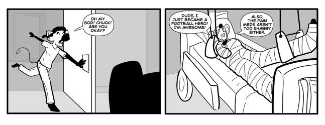 A funny Freaks N Squeeks comic by the Marvelous Patric about a football hero.