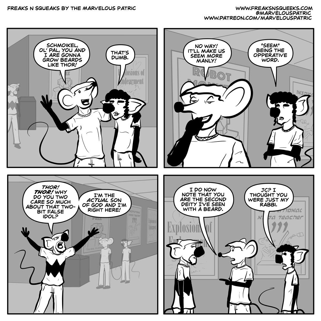 Freaks N Squeaks #2037 – More Manly