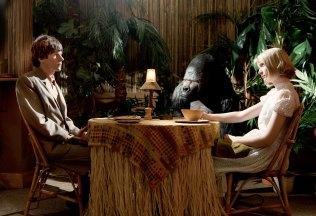 Mia Wasikowska and Jesse Eisenberg in The Double. Image courtesy