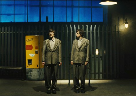 Jesse Eisenberg in The Double. Image courtesy of Magnolia Pictures.