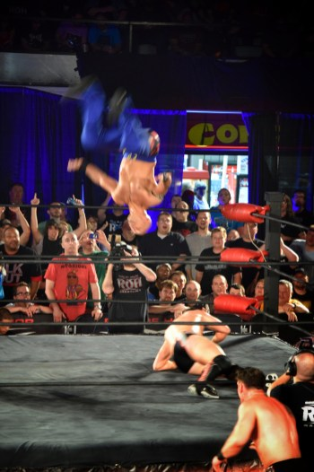 Daniels acrobatics from the top rope