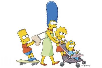 Marge and the kids