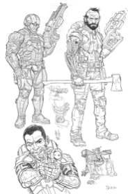Concept work from We Stand On Guard