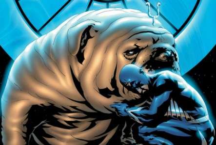 Lockjaw as he appears in the comics