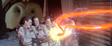 The Ghostbusters cross the streams.