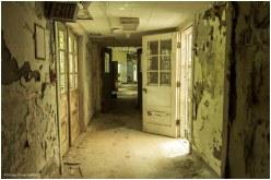 Inside an abandoned hospital