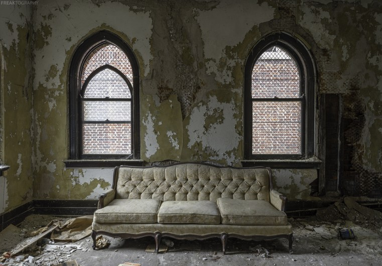 photography prints of abandoned church