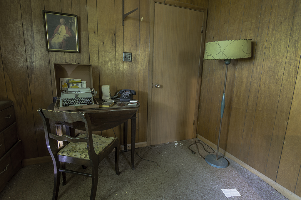 photography prints of Office in an old abandoned house